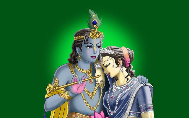 Radha Krishna Images with msg
