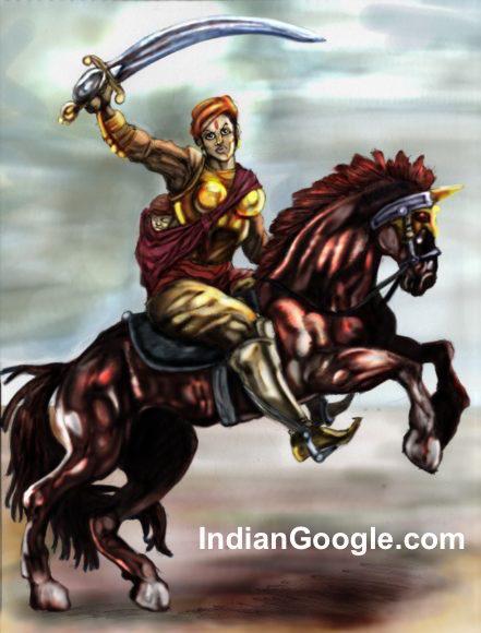 Rani-Lakshmibai-was-accustomed-to-riding-on-horseback-441x580