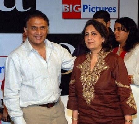 Sunil-Gavaskar-with-his-wife-Marshneil