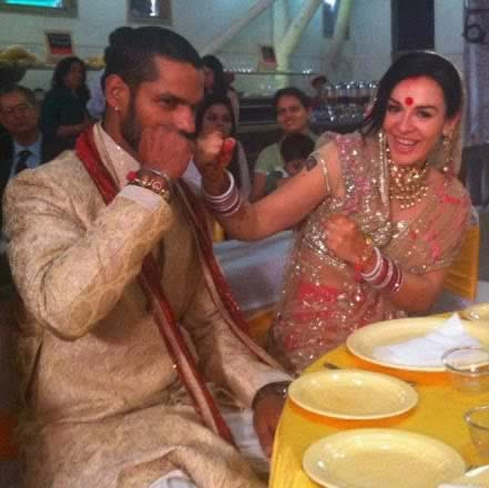 shikhar dhawan marriage photos