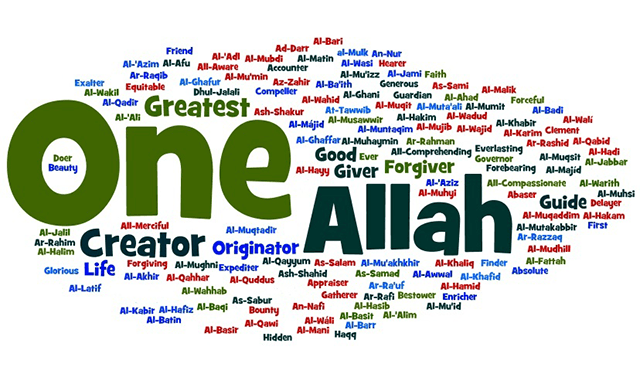 image of Allah name with Allah image Wallpaper in HD 15